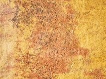 Orange Wand als alte Beschaffenheit des Hintergrundes für Design Stockfotografie