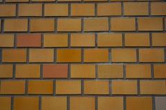 Orange Wandziegelsteinhintergrund in Japan lizenzfreies stockbild