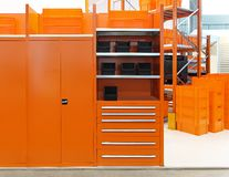 Orange warehouse Royalty Free Stock Photo