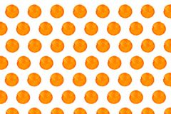 Orange warm hand drawn watercolor round circles isolated on white background vector illustration