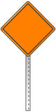Orange warning sign Royalty Free Stock Photos