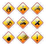 Orange warning signs Royalty Free Stock Photography