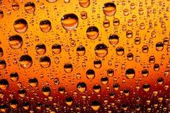 Orange Wassertropfen Stockbild