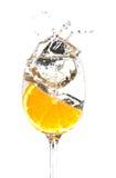 Orange In Water Royalty Free Stock Image