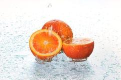 Orange in water Stock Images