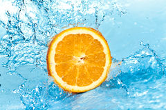 Orange and water Royalty Free Stock Photography