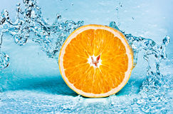Orange and water Royalty Free Stock Photo