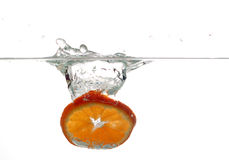 Orange in water #6 Royalty Free Stock Images