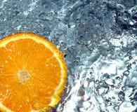 Orange in water Royalty Free Stock Photo