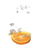 Orange In Water royalty free stock photos