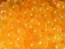 Set of orange water balls royalty free stock images