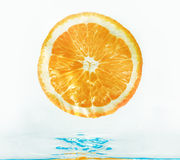 Orange in water Royalty Free Stock Photo