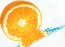 Orange in water Royalty Free Stock Photography