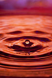 Orange water drop and splash Royalty Free Stock Photo