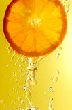 Orange and water droplets Royalty Free Stock Photo