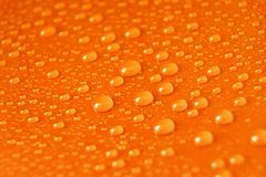 Orange Water Drops Stock Photos
