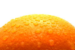 An orange. Water drops on large orange Stock Photo