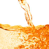 Orange water splash isolated Royalty Free Stock Image