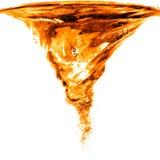 Orange water splash isolated on white Royalty Free Stock Photos