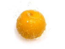 Orange with water splash Royalty Free Stock Photo