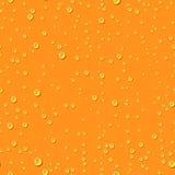 Orange water transparent drops seamless pattern. Stock Photography