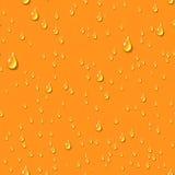 Orange water transparent drops seamless pattern. Royalty Free Stock Photo