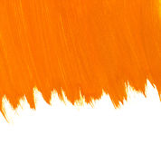 Orange watercolor background. Abstract orange watercolor brush strokes with space for your own text Stock Photos