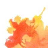 Orange watercolor background. Stock Photos