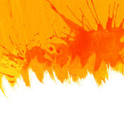 Orange watercolor background. Royalty Free Stock Image