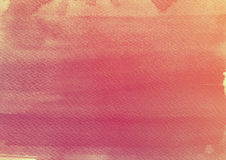 Orange Watercolor Background. Watercolor background with watercolor paper texture stock photo