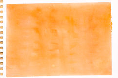 Orange watercolor background texture Royalty Free Stock Photos