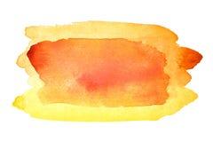 Orange watercolor brush stroke Royalty Free Stock Image
