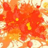 Orange watercolor paint splashes background Royalty Free Stock Images