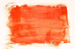 Orange watercolor painting texture Royalty Free Stock Image
