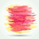 Orange watercolor splatter grunge vector background Stock Photography