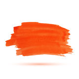 Orange watercolor stripe Royalty Free Stock Images