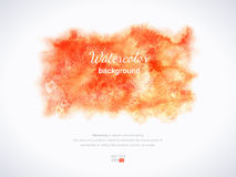 Orange watercolor texture.Hand-drawn background. Orange watercolor texture. Autumn. Blobs, stain, paints blot. Hand-drawn template  elements for your project Royalty Free Stock Photos
