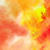 Orange watercolor texture Royalty Free Stock Images