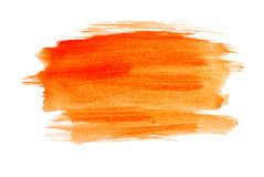Orange watercolour Stock Images