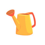 Orange watering can, agriculture tool cartoon vector Illustration. Isolated on a white background Stock Image