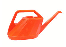 Orange watering can isolated on white background. Stock Images