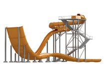 Orange waterslide Stock Photo
