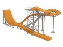 Orange waterslide Royalty Free Stock Image