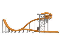 Orange waterslide Stock Photography