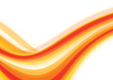 Orange wave. Abstract summery background with orange wave. Vector Royalty Free Stock Image