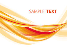 Orange wave Royalty Free Stock Image