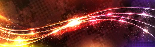Orange wave. Orange neon wave background Royalty Free Illustration