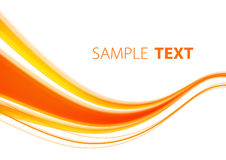 Orange wave Stock Photography