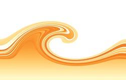 Orange wave. Graphic orange wave on white background Royalty Free Stock Image
