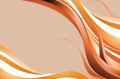 Orange wave Stock Photo